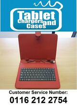 "Red USB Keyboard Carry Case/Stand for Acer Iconia Tab A1-810 7.9"" Android Tablet"