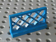 Barrière bleue LEGO Vintage Blue Fence ref 3185 /set 341 132 6385 6971 6384 3678