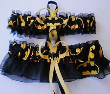 Batman Fabric Logo Superhero Wedding Garter Set Bat Man Prom