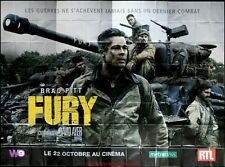 FURY Affiche Cinéma GEANTE / WIDE Movie Poster 4Mx3 BRAD PITT Shia LaBeouf