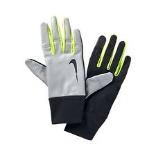 NIKE MENS VAPOR FLASH RUNNING GLOVES ENHANCED VISIBILITY REFLECTIVE M RRP £42