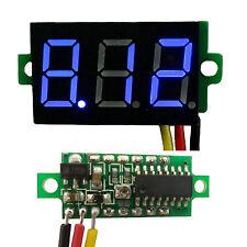 """Blue 0.28"""" DC 0-100V 3 Wire LED Display Digital Voltage Voltmeter Panel"""