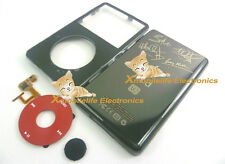 Black Faceplate Housing Back Case Cover Red Clickwheel fr iPod 5th Video 30GB U2