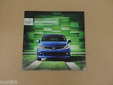 2012 Nissan Versa Hatchback 1.8 S SL sales brochure dealer catalog literature