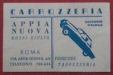 Roma: Biglietto da visita Carrozzeria Appia Nuova Rossi Giulio
