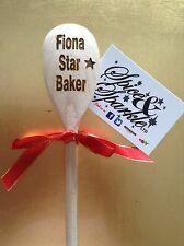 Personalised Engraved Wooden Spoon Star Baker Events Kitchen Baking Cooking Gift