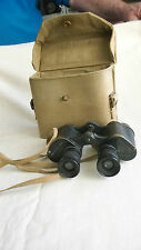 WW2 BRITISH ARMY KERSHAW Mk II x6 BINOCULARS WITH GRATICULES IN WEBBING CASE.