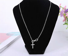 Women Charm Cross Choker Chunky Statement Bib Necklace Jewelry Chain Pendant NeW