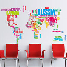 Waterproof World Map Removable Decal Art Mural Home Decor Vinyl Wall Stickers