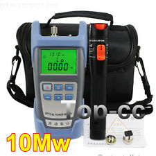 Fiber Optical Power Meter and 10-12km 10mW Visual Fault Locator Cable Tester