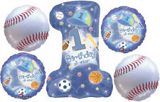 FIRST 1st BIRTHDAY BASEBALL BALLOONS BIRTHDAY PARTY BOUQUET SUPPLIES ALL STAR