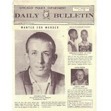 RICHARD SPECK Wanted for Murder—rare Chicago Police Daily Bulletin July 17, 1966