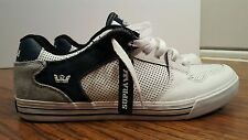 SUPRA VAIDER LOW, White, Men's Skateboarding Shoes, Size 13, Used, Worn