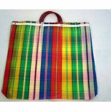 6 Lot Tote Plaid Market Bag Recycled Mix Grocery Market Mesh Mexican Wholesale