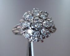 Vintage 18 K White Gold (6.41 Grams) Diamonds Cluster Ring