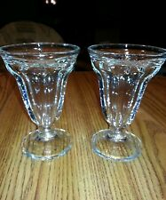 HERSHEY'S Ice Cream Sundae Glass Dishes Collectable.  Lot of 2.