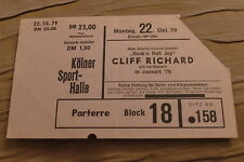 TICKET CLIFF RICHARD 1979 GERMANY