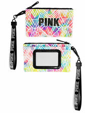 Victoria's Secret PINK ID Case Badge Holder Wallet Wristlet Watercolor