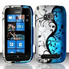 Design Rubberized Hard Case for Nokia Lumia 710 - Blue Vine