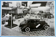 """12 By 18"""" Black & White Picture 1935 Ford New Model Expo"""