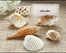 24 Seashell Beach Wedding Place Card Holders Favors