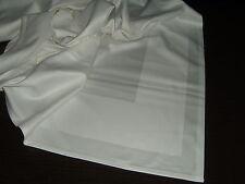 10x  DAMAST Tischdecke   Baumwolle 130x130 cm   weiß  Atlaskante