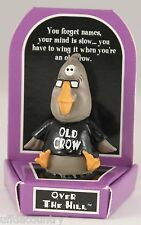 Russ Berrie Over The Hill Old Crow Figurine - Discontinued - Limited Quantities