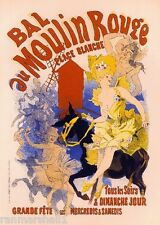 Bal au Moulin Rouge Vintage French France Poster Picture Print Advertisement