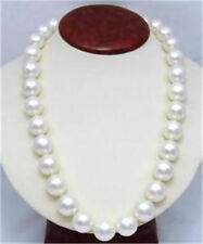 """10mm AAA White South Sea Shell Pearl Round Beads Necklace 24"""""""