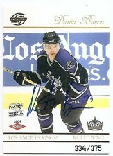 03/04 PACIFIC SUPREME ROOKIES AUTOGRAPH RC #119 Dustin Brown #334/375
