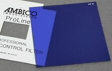 "4"" x 4"" 100mm Sq. RESIN FILTER AMBICO PROLINE WRATTEN 80B BLUE COLOR CORRECTION"