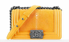 Chanel Boy Yellow Stingray Small Stunning. New With Box and Receipt $6400