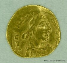 ANCIENT BYZANTINE GOLD COIN HERACLIUS; 610-641 A.D. TREMISSIS; CROSS ON REVERSE!