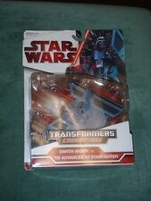 Star Wars Transformers Crossovers - DARTH VADER TO TIE ADVANCED X1 STARFIGHTER