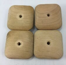 "VTG 4 Mission style Wood SQUARE Drawer KNOBS 2"" Center Hole"