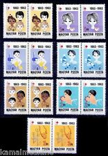 Red Cross centenary, Health, Children,Hungary 1963 MNH 7v in Pairs  - Mr07