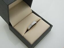 18ct White Gold Ring with 0.50ct (Half Carat) Princess Cut Diamonds BRAND NEW