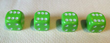 4 x Lime Green White Pips Dice Dust Valve caps bike retro 80's