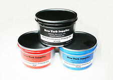Assorted Offset & Letterpress Printing Ink Set - Black Blue Red 2.5 lbs each