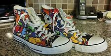 CONVERSE Chuck Taylor All Star High Top #100038F Sticker Graffiti Print MEN 11!!