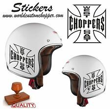 1 ADESIVO STICKERS MOTO CUSTOM SERBATOIO-CASCO WEST COAST HARLEY DAVIDSON