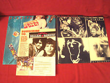THE ROLLING STONES EMOTIONAL RESCUE AND UNDER COVER ROCK LP'S WITH INSERT