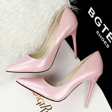 Women's New Solid Super High Heels Shoes Lady's Stiletto Pointed toe Pumps Shoes