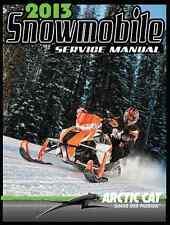 Arctic Cat 2013 snowmobile (all models) repair service manual in 3-ring binder