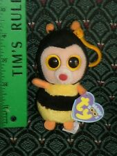 "Ty Beanie Boo 3"" clip STING (Bumble Bee) * FELT NOSE * MWMT * RARE * Retired"