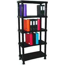 Storage Shelving Shelves Unit 5 Tier Racking Plastic for Home Living Room New
