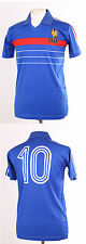 France euro 84 1984 retro platini 10 bleu football shirt maillot petit s