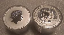 "Australian Lunar II ""Year of the Dragon"" 2012, ( 5 x 2 Oz )Silver coins (roll)"