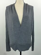 The Limited Women's Gray Deep V Knit Top SIZE MEDIUM