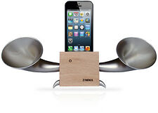 iPhone5c/5s/5/4s/4/iPodTouch5 Loudspeaker.Docking stand.Horn stand.Wood S